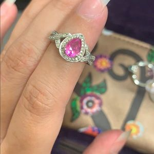 Pink sapphire and diamond